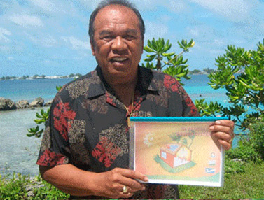President Jurelang Zedkaia shows his support for the creation of the Marshallese Solar Training Manual.